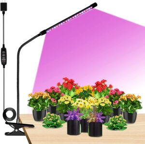Grow Lights LED Plant Full Spectrum Single-Head 20W Clip-on Plant Grow Lights for Indoor Plant