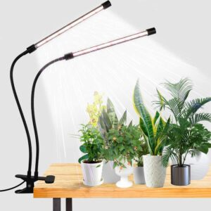 LED Grow Light,6000K Full Spectrum Clip Plant Growing Lamp with White Red LEDs for Indoor Plants